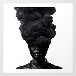 Smoke Face Art Print
