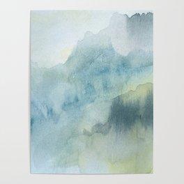 Abstract mountain watercolor no170896 Poster