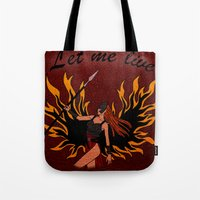 resident evil Tote Bags featuring Resident Evil Claire Redfield Jacket by KeenaKorn