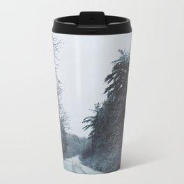 Winter Road Metal Travel Mug