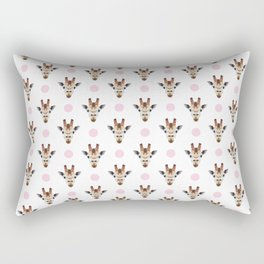 Pink and Brown Giraffe Rectangular Pillow