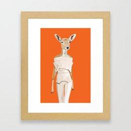 Doe wearing Felipe Oliveira Baptista Framed Art Print