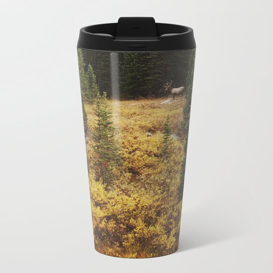 Rocky Mountain Creek Elk Metal Travel Mug