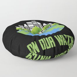 No Pollution on our Watch Happy earth Day Floor Pillow