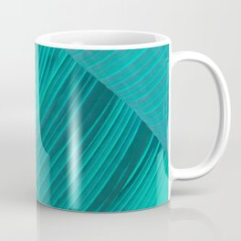 Banana Leaf Abstract Coffee Mug