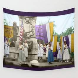 Lafayette, We Are Here! Suffragists protest across from the White House in 1918 Wall Tapestry