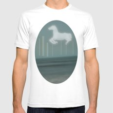 horse Mens Fitted Tee White MEDIUM