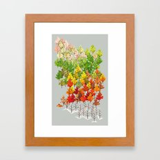 Seasons Framed Art Print
