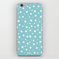 polkadot iPhone & iPod Skins featuring White Polkadot by Laura Maria Designs