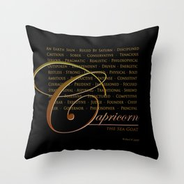 Sign Language for Capricorn Throw Pillow