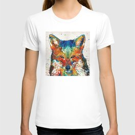 Colorful Fox Art - Foxi - By Sharon Cummings T-shirt
