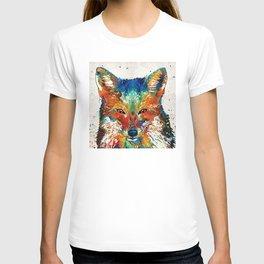 Colorful Fox Art - Foxi - By Sharon Cummings T-shirt