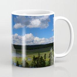 Meadow With Yellowstone River Coffee Mug