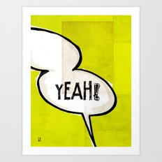 Comic Book: Yeah! Art Print