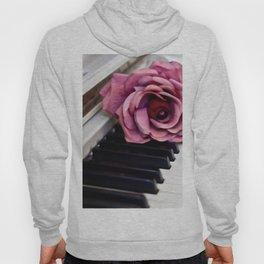 Piano Keys With Rose Hoody