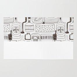 alcoholic pattern Rug