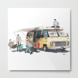 the GISHBUS Metal Print