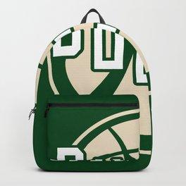 Bucks basketball vintage green logo Backpack