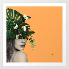 Lady Flowers Vlll Art Print