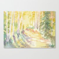 forrest Canvas Prints featuring Forrest by Susie McColgan