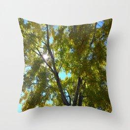 Sun Leaves Throw Pillow