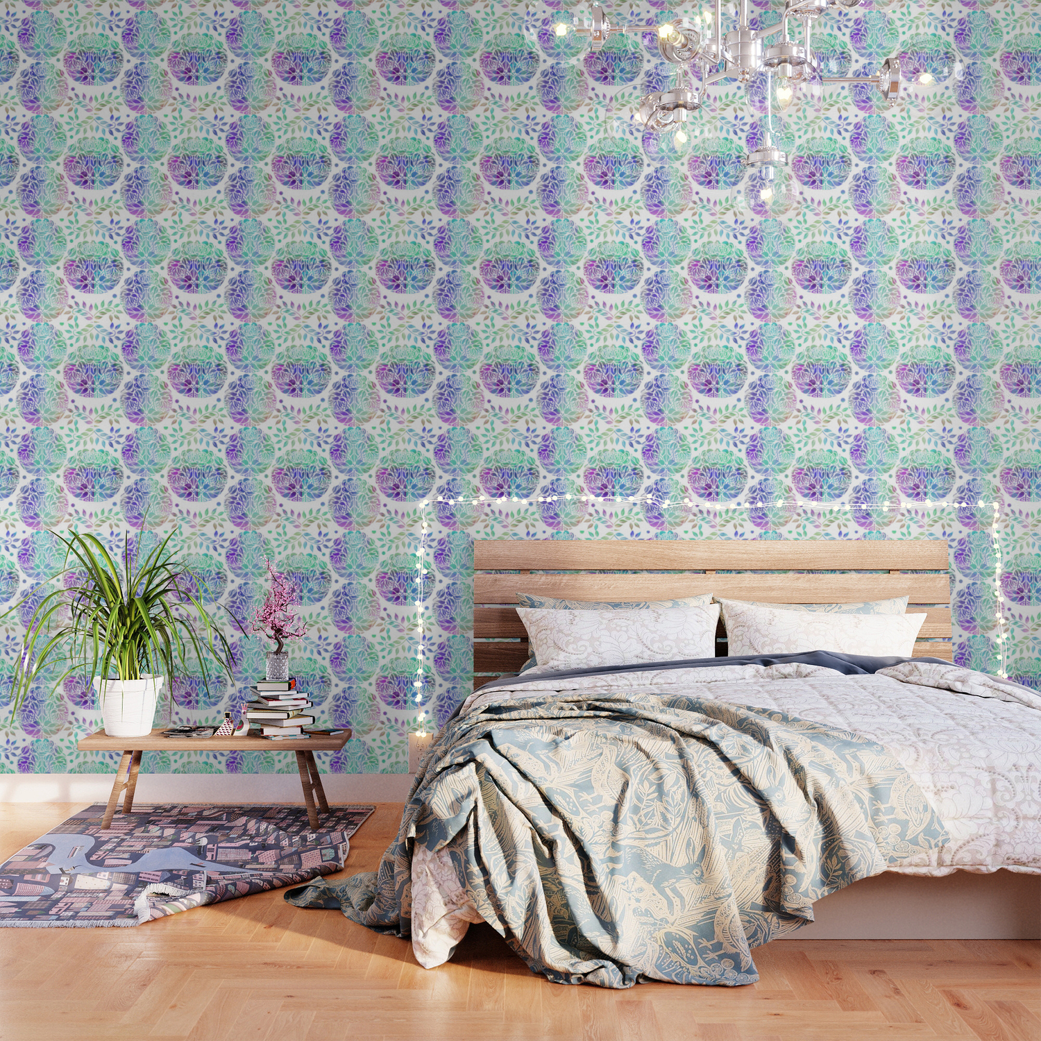 Art Nouveau Style Floral Wallpaper By Judyskowron Society6