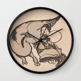 Geisha & Hadrosaure Wall Clock