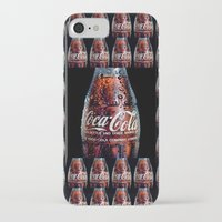 coca cola iPhone & iPod Cases featuring The Real... by LesImagesdeJon