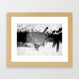Zebra (Equiferus). Framed Art Print