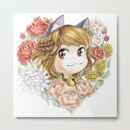 Hearty kitty Metal Print