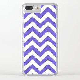Slate blue - blue color - Zigzag Chevron Pattern Clear iPhone Case