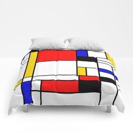 Bauhouse Composition Mondrian Style Comforters