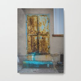 In the Door series, from my street photography collection Metal Print