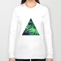 weed Long Sleeve T-shirts featuring Smoke Weed by Lyre Aloise
