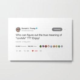 Covfefe Trump Tweet Special Pepe The Frog Thug for life glasses BIG PRINTS HD Metal Print