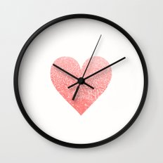 CORAL HEART Wall Clock
