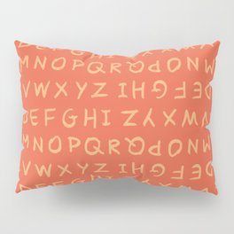ABC in Coral & Peach Pillow Sham