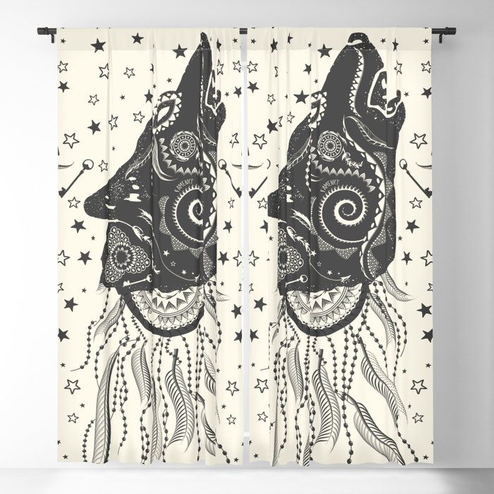 Wolf Blackout Curtain