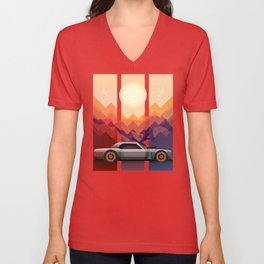 Into the Sun, Ford Mustang 65 KB Unisex V-Neck