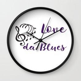 Love da Blues Wall Clock