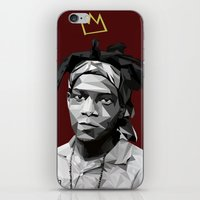basquiat iPhone & iPod Skins featuring Geometric Basquiat by WillisInDesign