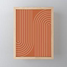 Minimal Line Curvature IX Framed Mini Art Print