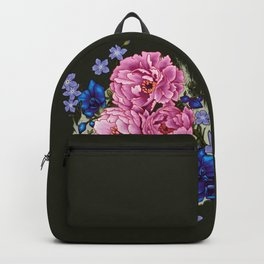 pinky and blue flowers Backpack