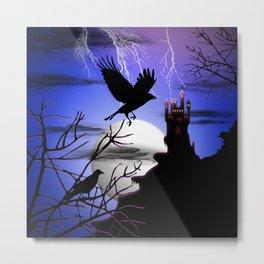 Raven's Haunted Castle Metal Print