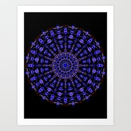 Circle Tarot Art Print