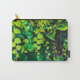 closeup green ivy leaves garden texture background Carry-All Pouch