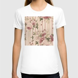 Flowers and Stripes Two T-shirt