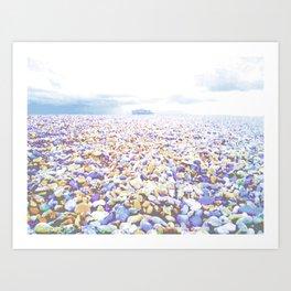Blue by the ocean Art Print