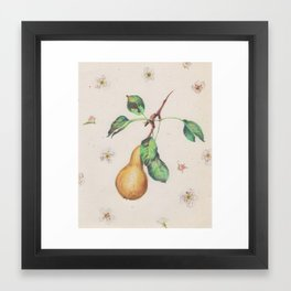 A Pear Framed Art Print