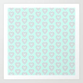 Happy Heart Gems Art Print